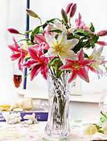 17.75 «arrangement fraîche Lily Rose avec Crystal en Verre Vase