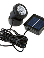 6-LED Waterproof Solar Powered Spotlight Garden Outdoor Flood Lamp