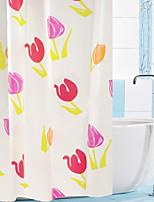 Shower Curtain Colourful Tulip Print W71 x L71