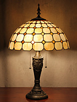 Check Pattern Table Lamp, 2 Light, Tiffany Resin Glass Painting