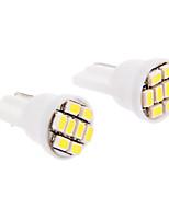 T10 6x3020SMD 30-60LM 6000K Cool White Light LED-lamp voor in de auto (12V, 2 stuks)