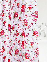 Shower Curtain Colourful Flower Print W78 x L71