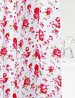 Shower Curtain Красочные цветка печати W78 L71 X