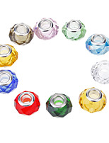 Fashion Oblaten Shape Multicolor Crystal DIY Kralen 10st