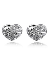 Elegant Alloy Silver Rhinestone Women's Earrings