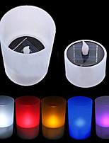 Solar Power LED Tea Light Tealight Candle Flameless Flickering Xmas Wedding(CIS-57263)