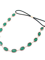 moda jóia oval faixa de cabelo