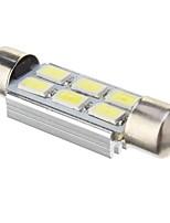 Ampoule de feston 2W 6x5730SMD 140lm 6000K blanc froid lumière LED pour voiture (12V DC, 41mm, 1pcs)