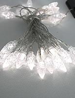 4,5 M 3W 30-LED Luz de tira solar del LED de luz blanca para decoraciones de Navidad