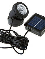 6-LED White Light LED Solar Light Waterproof Garden Outdoor Flood Lamp