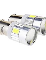 Ba9s 2.5W 6x5730SMD 70LM 6000K Cool White LED Bulb for Car (12V)