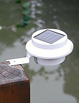 White Light LED Solar Light Fence Gutter Light Outdoor Garden Yard Wall Pathway Lamp