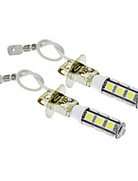 H3 6W 13x5060SMD 450LM 5500-6500K Cool White Light LED Bulb for Car (12V,2pcs)