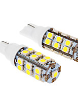 T10 3W 25x3020SMD 280LM 5500-6500K Cool White Light LED Bulb for Car (12V,2pcs)