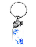 Personalized Rectangle Asian Style Keychain - Dragon