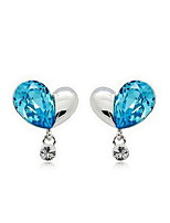 Elegant Alloy Silver Rhinestone Women's Earrings(More Colors)
