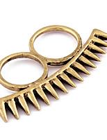 Fashion Rivet Double FInger Ring(Random Color,Size 9)