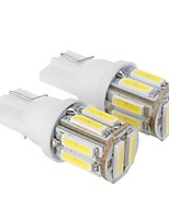 T10 2.5W 10x7020SMD 175LM 6000K Cool White Light LED Bulb for Car (DC 12V,2pcs)