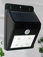 4-LED White Light LED Solar Light PIR Sensor Outdoor Light