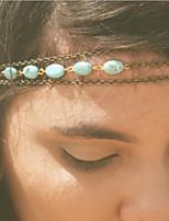 turquesa boemia faixa de cabelo cadeia
