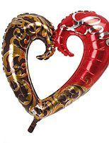 Red&Chocolate Heart Metallic Balloon