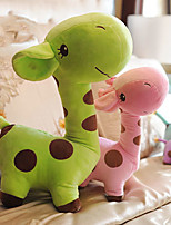 Cute Cartoon Green Giraffe Novelty Pillow