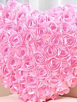 Vivid Modern Pink Rose Cluster Heart Shape Novelty Pillow