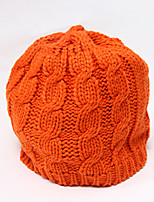 Chunyazi Casual Warm Solid Color Hat(Orange)