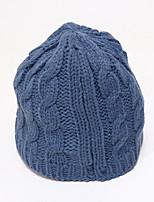 Chunyazi chapéu cor sólida Quente Casual (azul)
