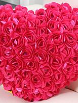 Vivid Modern Rose Cluster Heart Shape Novelty Pillow
