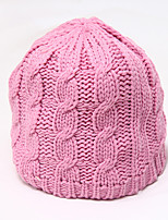 Chunyazi chapéu cor sólida Quente Casual (rosa)