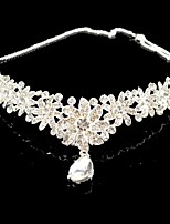 Häät morsiamen morsiusneito Pearl Crystal Prom Crown Dangle Tiara