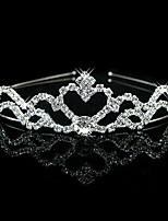 Häät Bridal Flower Girls Kids Crystal Pearl hiukset bändi otsapanta Tiara