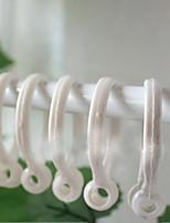 טבעת קלאסית לבן וילון קליפ (קוטר 3.5cm) סט של 5