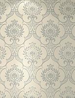 Damask Wallpaper For Home Classical Wall Covering , Velvet Flocked Material Self adhesive Wallpaper , Room Wallcovering