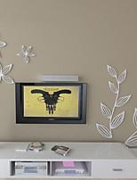 Botaniques Blanc Feuilles 3D Stickers muraux, Stickers muraux amovibles