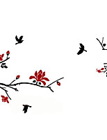 Botanical Floral Birds 3D Wall Stickers