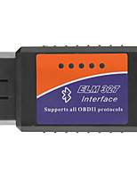 OBDII Bluetooth Car Diagnostic Cable - preto + azul + laranja (DC 12V)