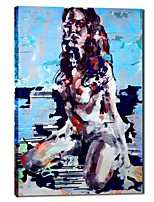 Hand Painted Oil Painting People Sexy Lady Nude with Stretched Frame