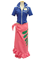 Inspired by Cosplay Cosplay Anime Cosplay Costumes Cosplay Suits Print Blue Short Sleeve Top Skirt For