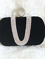 Women's Fashion Velvet Evening Bag with Dimonds