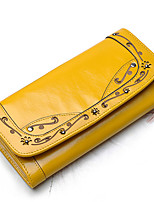 Woman's Carving Frame Leather Wallet
