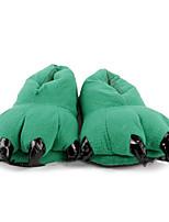 Lovely Green Dinosaur Claw Wool Women's Slide Slipper