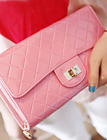 Women's Fashion Rhombus Patent Leather Wallet