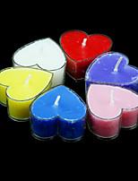 נרות לב ניחוח בצורת - סט של 6 חתיכות