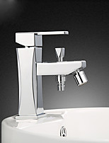 15*6*18 Brass Chrome cold and hot water Sink Faucet