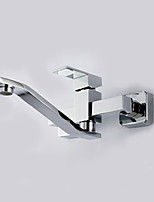 30*18*10 Brass Chrome cold and hot water Sink Faucet