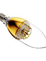 3W E14 LED Kerzen-Glühbirnen 30 SMD 3014 60-200 lm Warmes Weiß Dimmbar AC 220-240 V