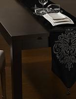 Velvet Table Runner with Floral Diamond 80
