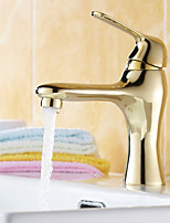 17*6*21 Copper Brushed cold and hot water Sink Faucet